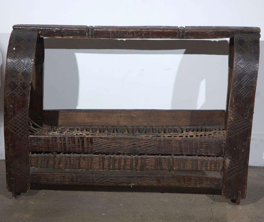 Kenyan African Tribal Folk Art Basket For Sale