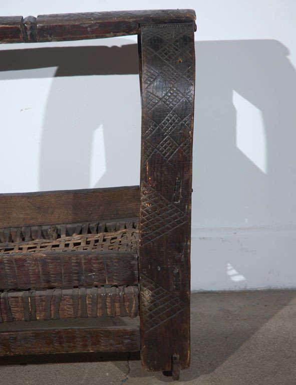 Hand-Carved African Tribal Folk Art Basket For Sale