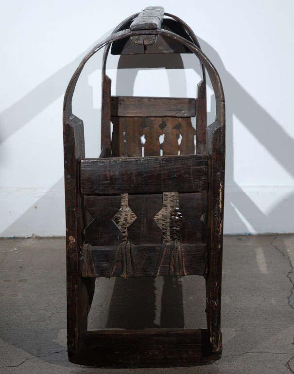 African Tribal Folk Art Basket For Sale 1