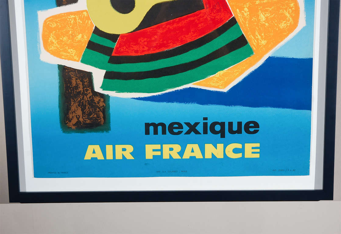 vintage air france travel poster by guy georget at 1stdibs