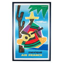 Vintage Air France Travel Poster by Guy Georget