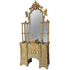 Early 19th Century Italian Gilded Display Cabinet