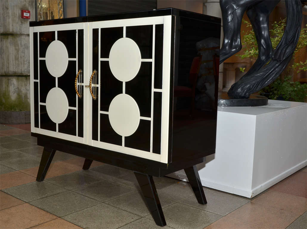 Pair of Buffets In Mirror In Excellent Condition For Sale In Saint ouen, FR