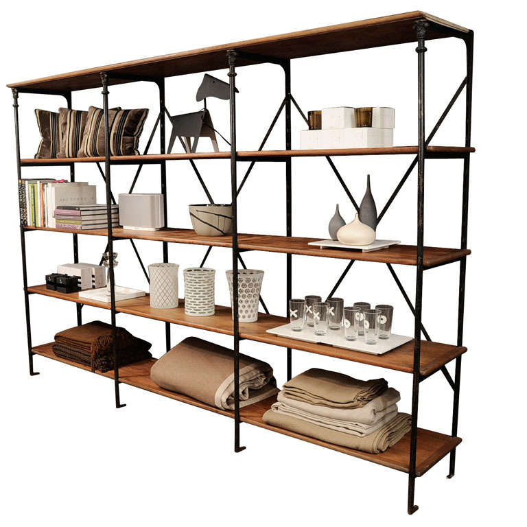 Open Shelving Unit Kitchen: Industrial Open Shelving At 1stdibs