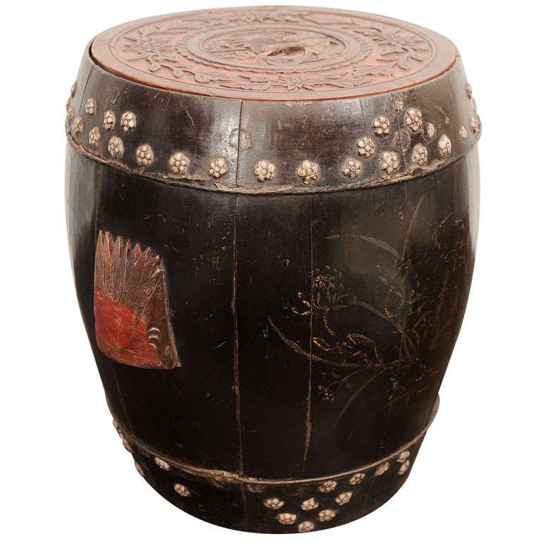 Antique Chinese Rice Basket At 1stdibs