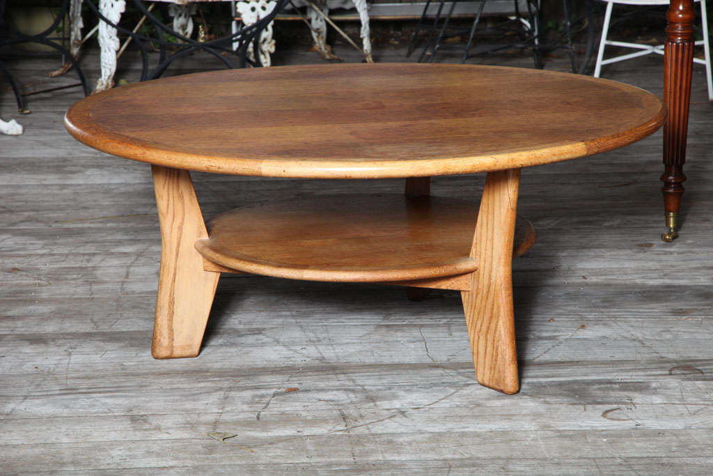 A Round Dutch Solid Oak Coffee Table At 1stdibs