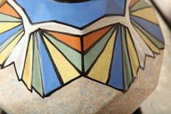 Belgian Art Deco Ceramic Vase by A. Dubois image 3