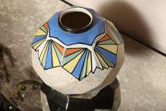 Belgian Art Deco Ceramic Vase by A. Dubois image 7