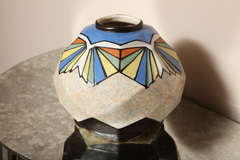 Belgian Art Deco Ceramic Vase by A. Dubois image 2