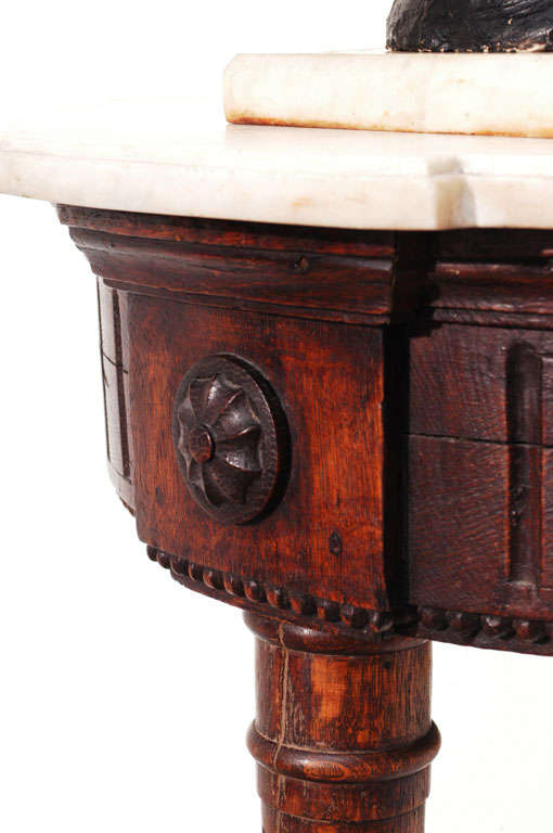 Neoclassic, Wall-Mounted Demilune Console, Italy, circa 1795 In Excellent Condition For Sale In Alexandria, VA
