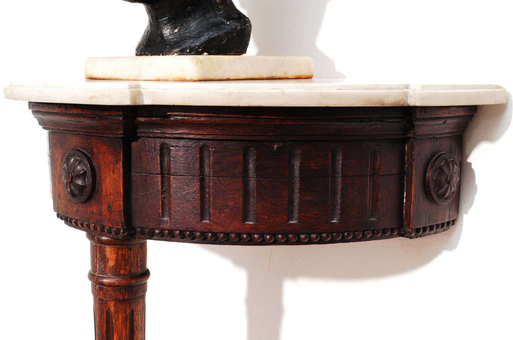 Late 18th Century Neoclassic, Wall-Mounted Demilune Console, Italy, circa 1795 For Sale