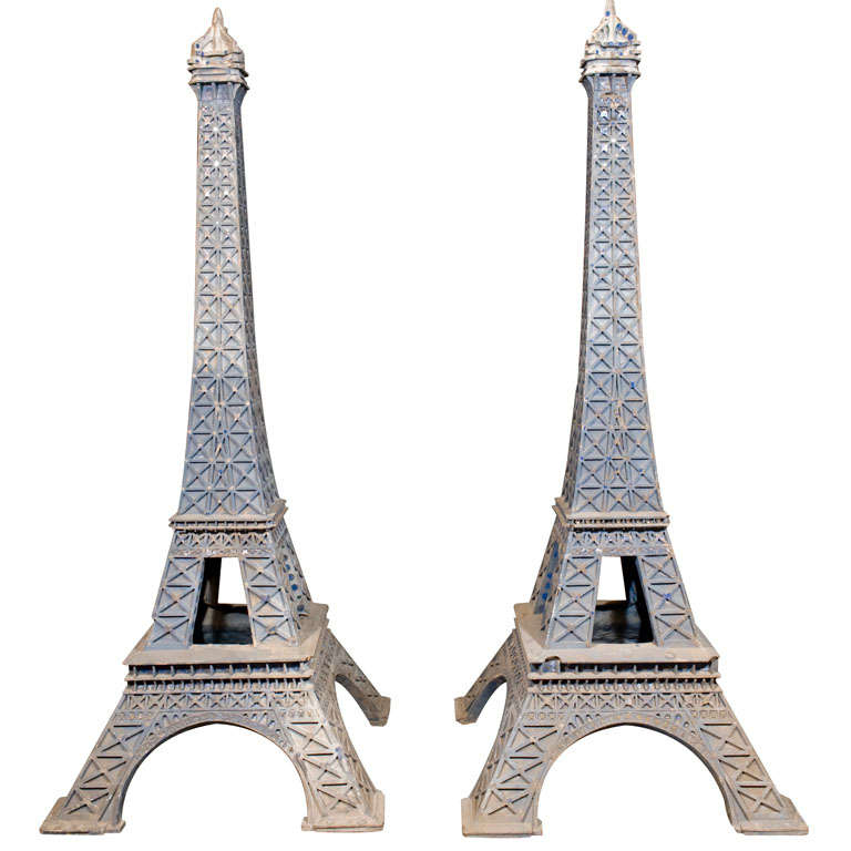 Two Large Scale Models Of The Eiffel Tower At 1stdibs