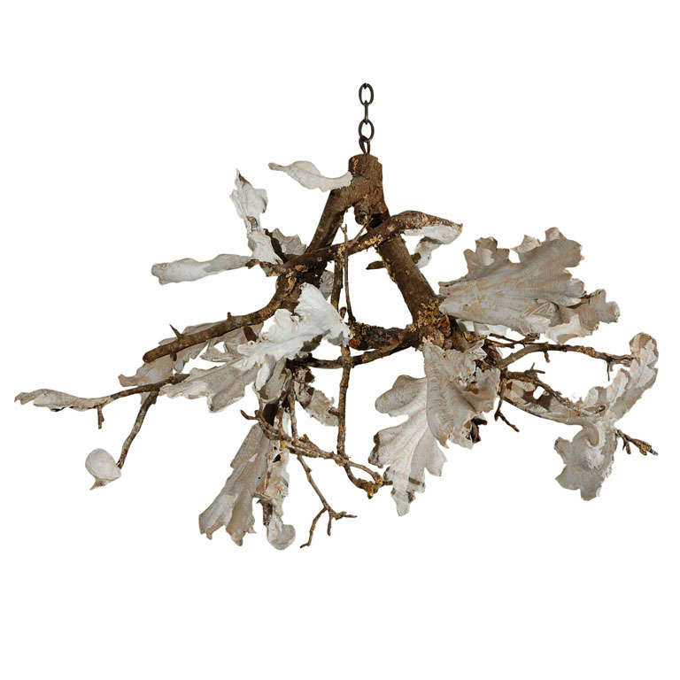 French plaster and twig chandelier at 1stdibs french plaster twig chandelier for sale aloadofball Image collections
