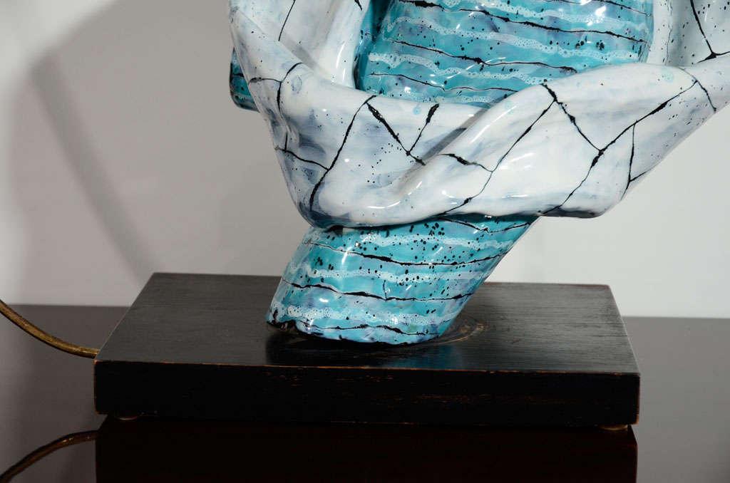 Italian Rare Ceramic Archer Sculpture by San Polo For Sale