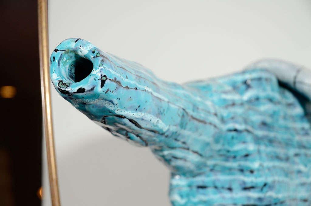 Rare Ceramic Archer Sculpture by San Polo For Sale 1