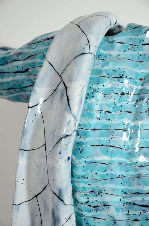 Rare Ceramic Archer Sculpture by San Polo For Sale 3