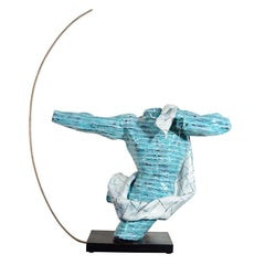 Rare Ceramic Archer Sculpture by San Polo