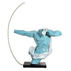 Rare Ceramic Archer Sculpture by San Polo