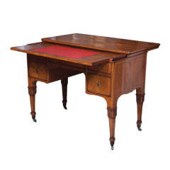 Italian Walnut Writing Desk with Sliding Top