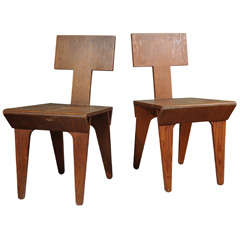 Pair of Nathan Lerner Birch Plywood Chairs