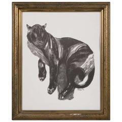'Panther Perched' after Paul Jouve, Art Deco
