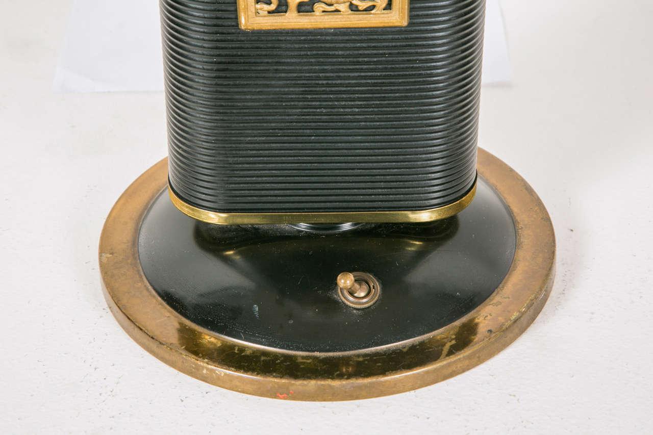 Brass 1945-1950s Table Lamp 'Sirène-Eileen Gray' by Jumo