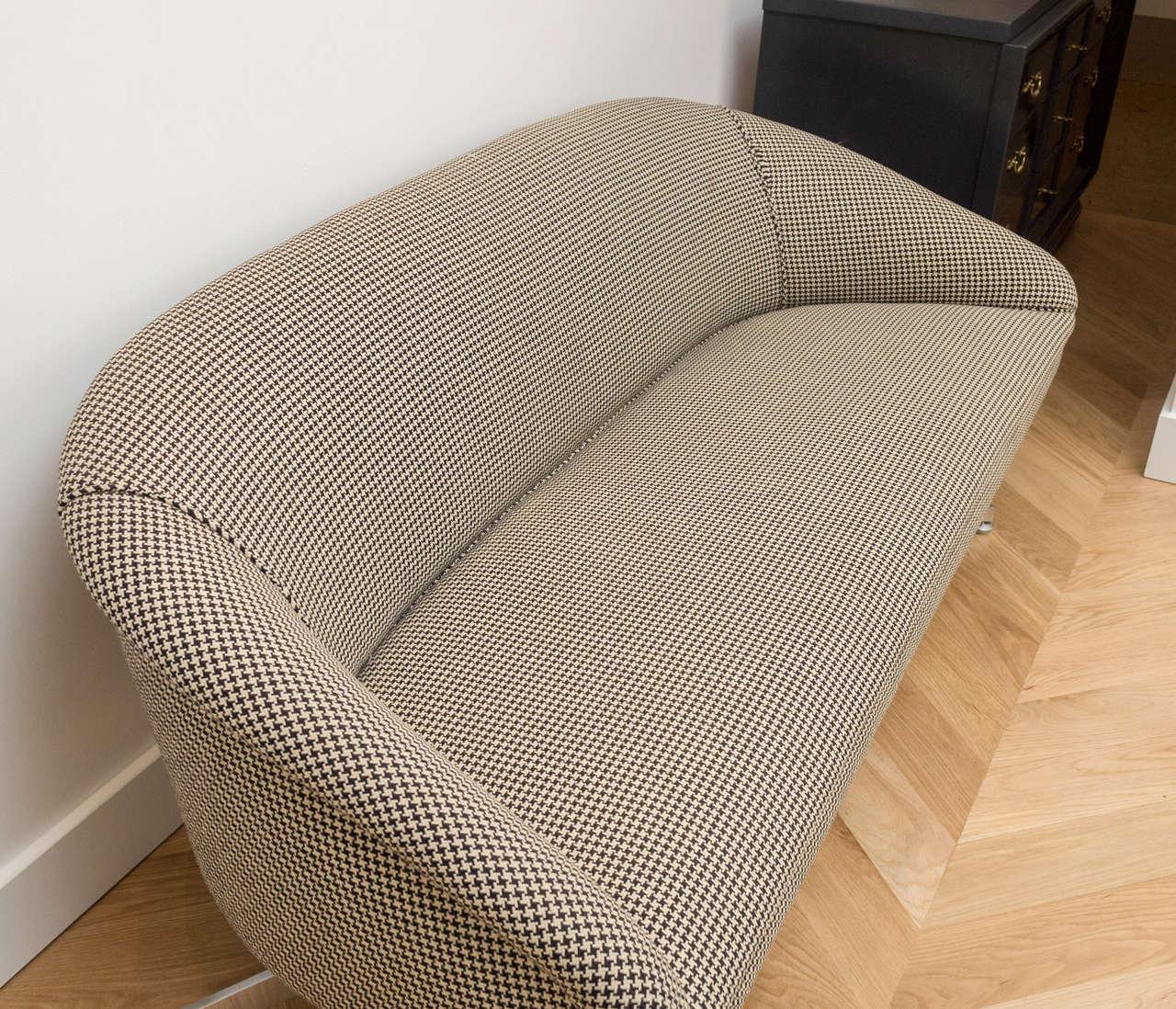 Ward Bennett Sofa with Original Wool Houndstooth Fabric 5