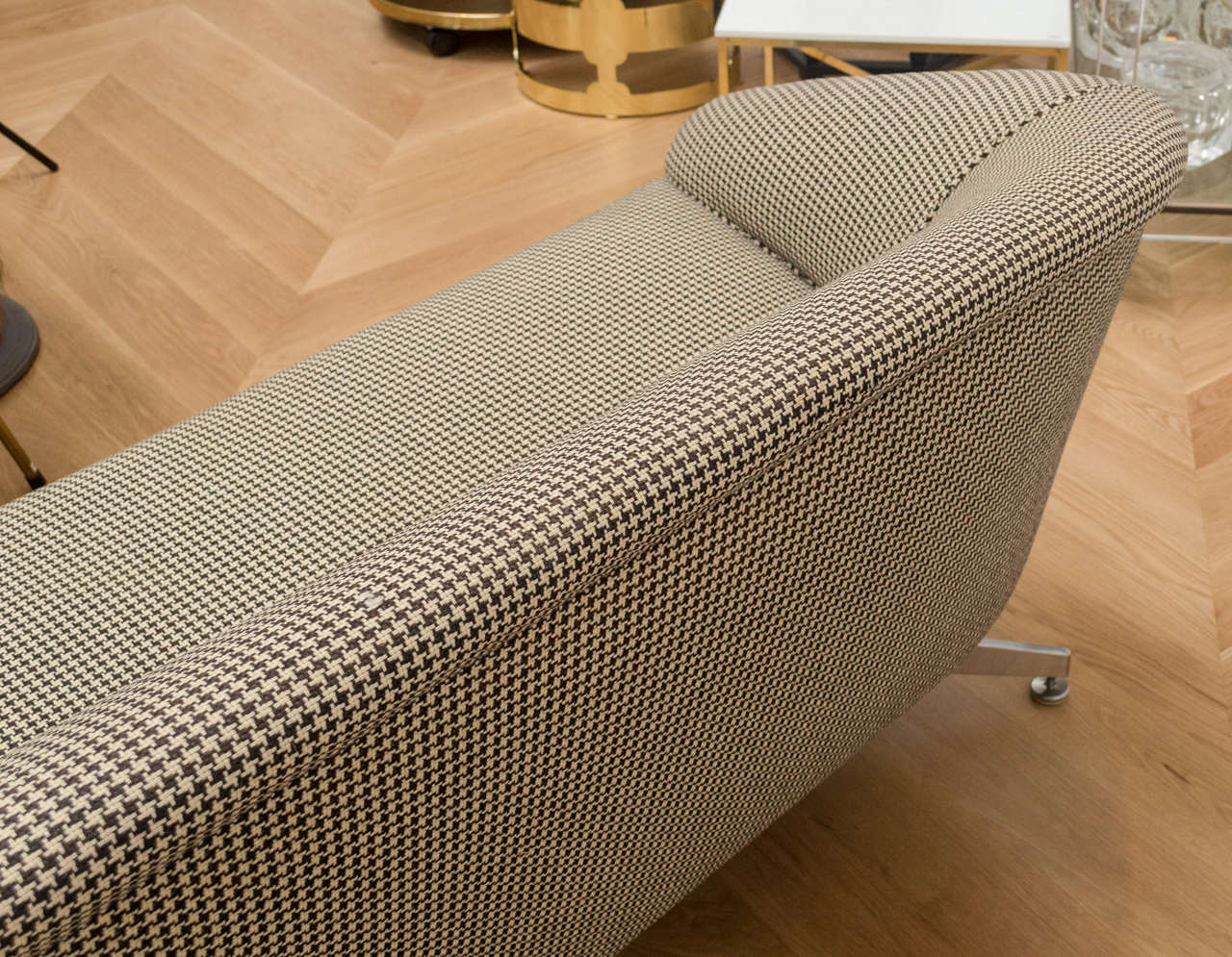 Ward Bennett Sofa with Original Wool Houndstooth Fabric 7