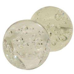 Pair of Decorative Murano Glass Balls