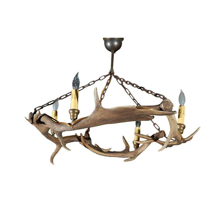 Elk horn chandelier for sale at 1stdibs elk horn chandelier for sale aloadofball Images