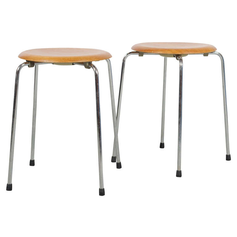 Fritz Hansen Pair Of Stools For Sale At 1stdibs