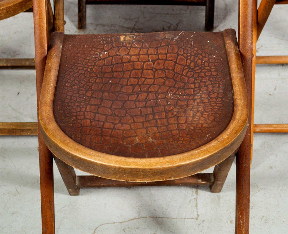 Beech wood folding chairs for sale at stdibs