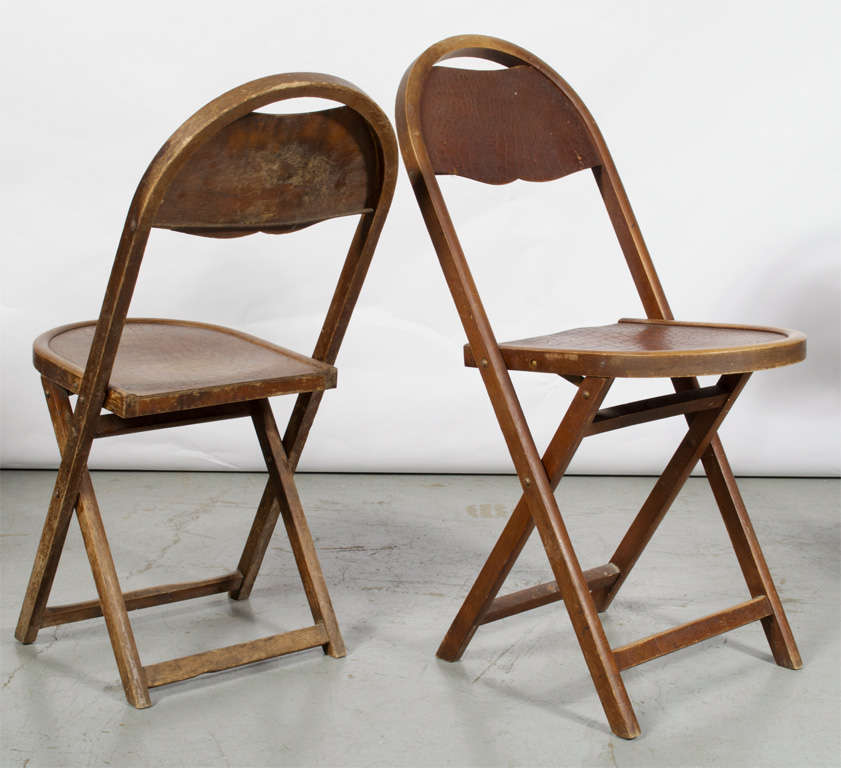 Beech Wood Folding Chairs At 1stdibs