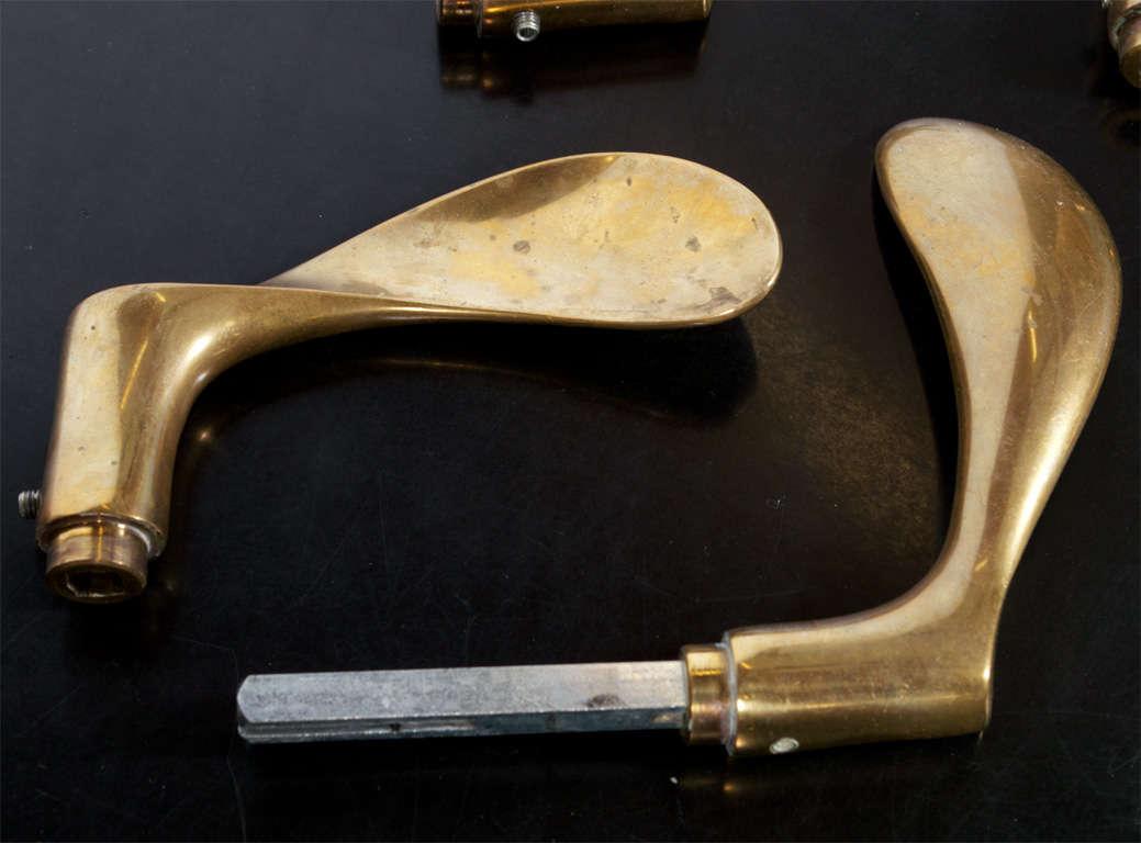 Arne Jacobsen Brass Door Handle Sets At 1stdibs