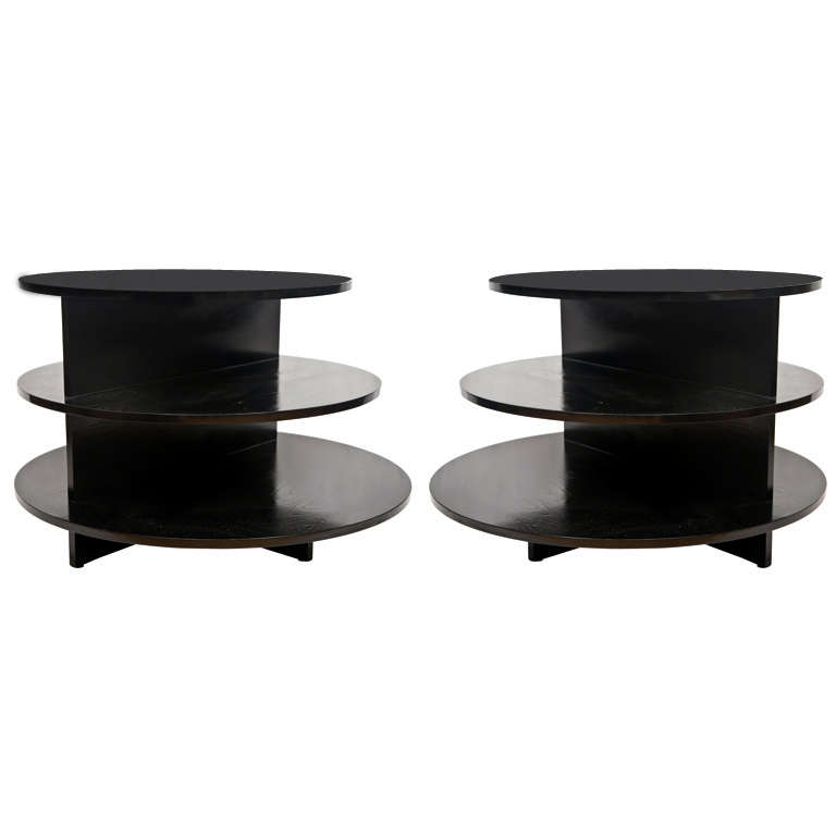 pair eileen gray ebonized occasional tables at 1stdibs. Black Bedroom Furniture Sets. Home Design Ideas