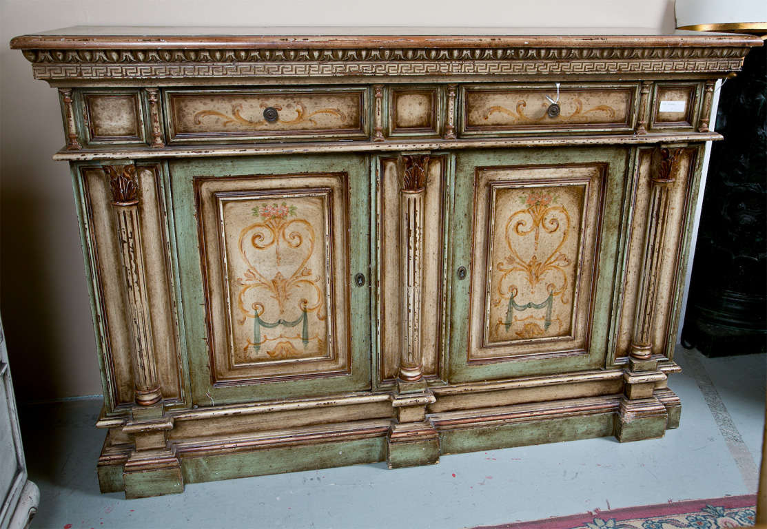 Italian painted credenza cabinet at 1stdibs for Credenza furniture