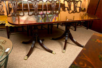 Banded Mahogany Dining Table by Schmieg & Kotzian image 2