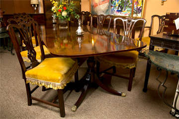 Banded Mahogany Dining Table by Schmieg & Kotzian image 8