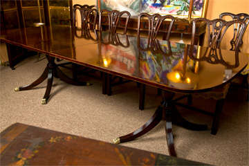 Banded Mahogany Dining Table by Schmieg & Kotzian image 9