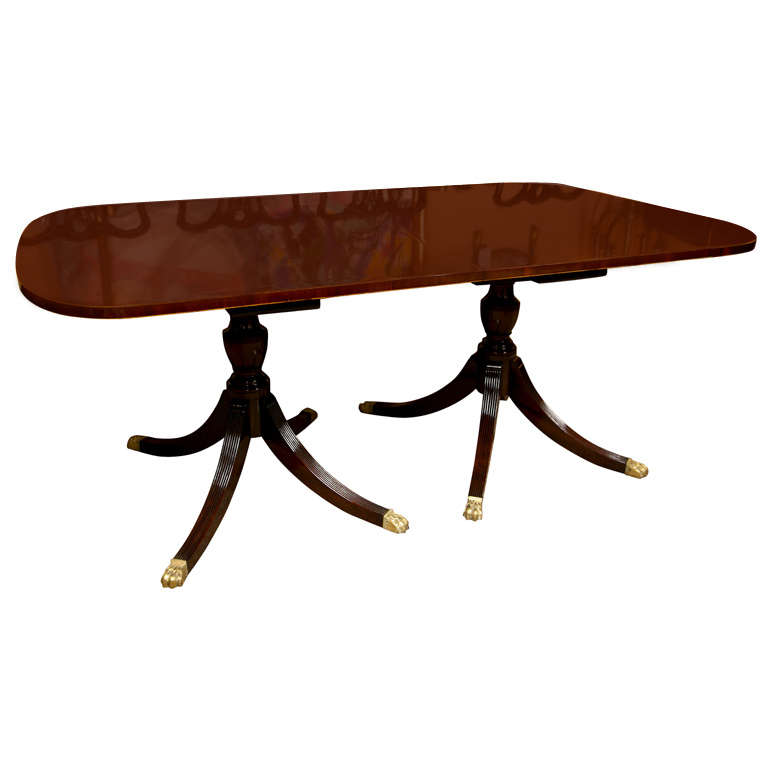 Banded Mahogany Dining Table by Schmieg & Kotzian