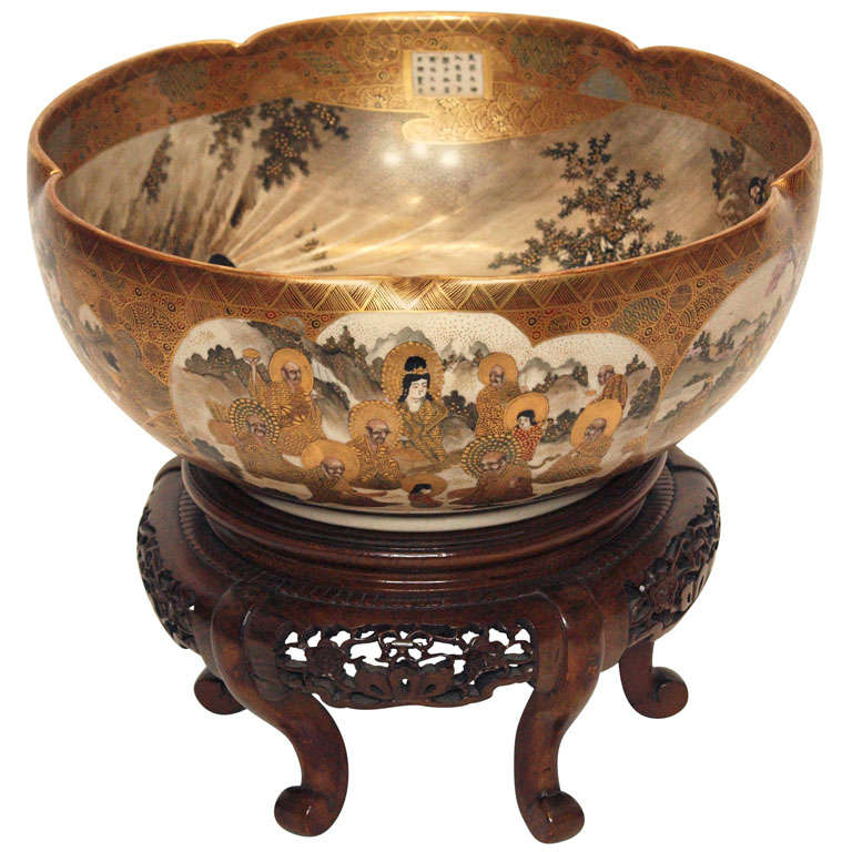 Antique Japanese Satsuma Bowl 19th Century For Sale - Antique Japanese Satsuma Bowl 19th Century At 1stdibs