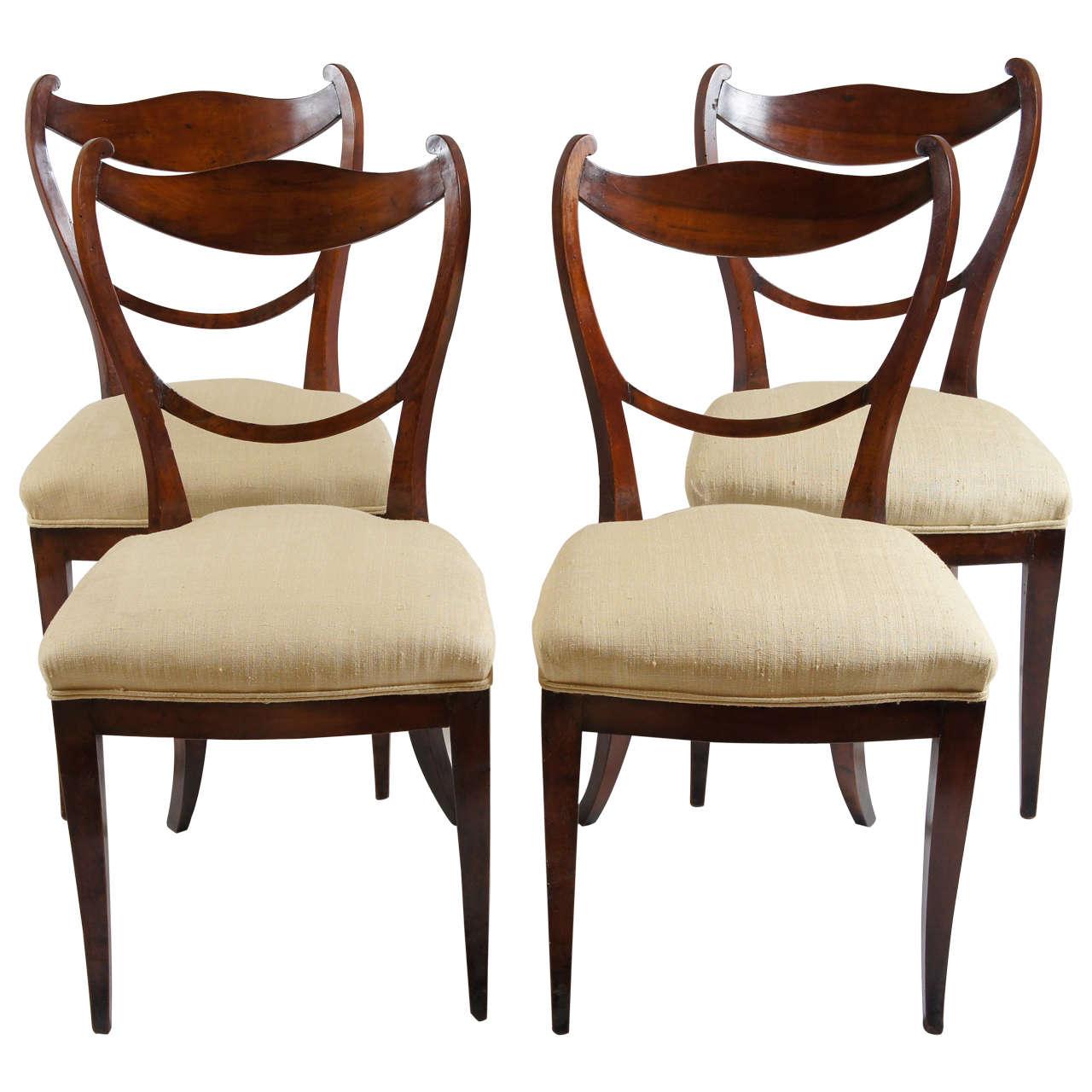 Set Of 4 Biedermeier Chairs Vienna, C. 1830 1