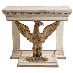 Superb Swedish Gustavian Gilt Wood Eagle Console, c. 1800