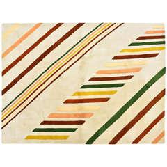 Large Vintage 1980 Edward Fields Inlaid Wool Carpet