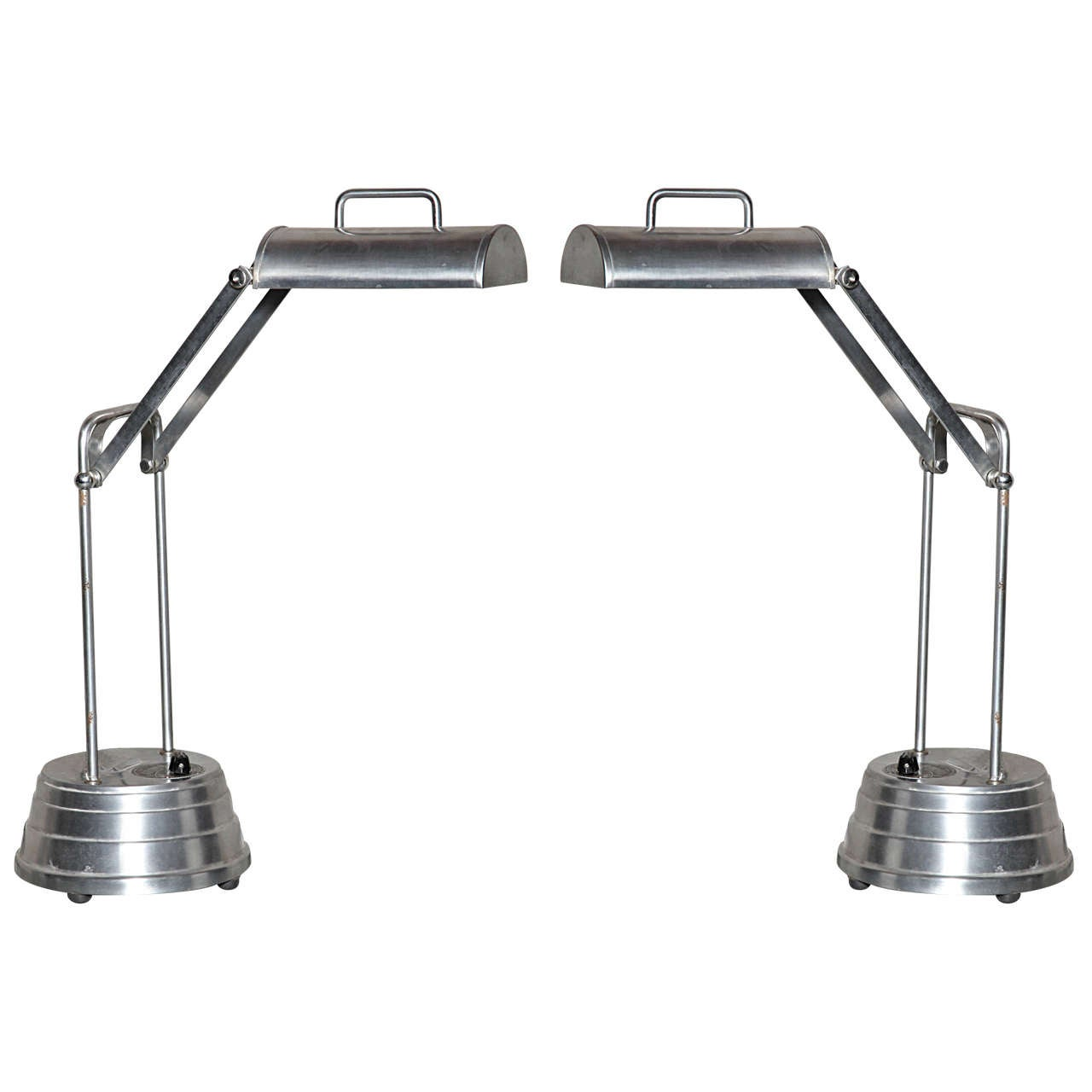 pair of sun kraft task lamps for sale at 1stdibs