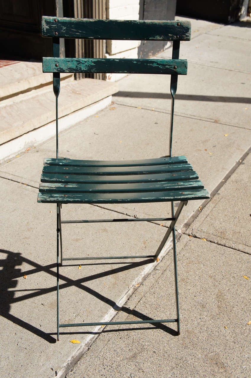 Superb A Set Of Four Vintage French Bistro Folding Chairs At 1Stdibs Machost Co Dining Chair Design Ideas Machostcouk