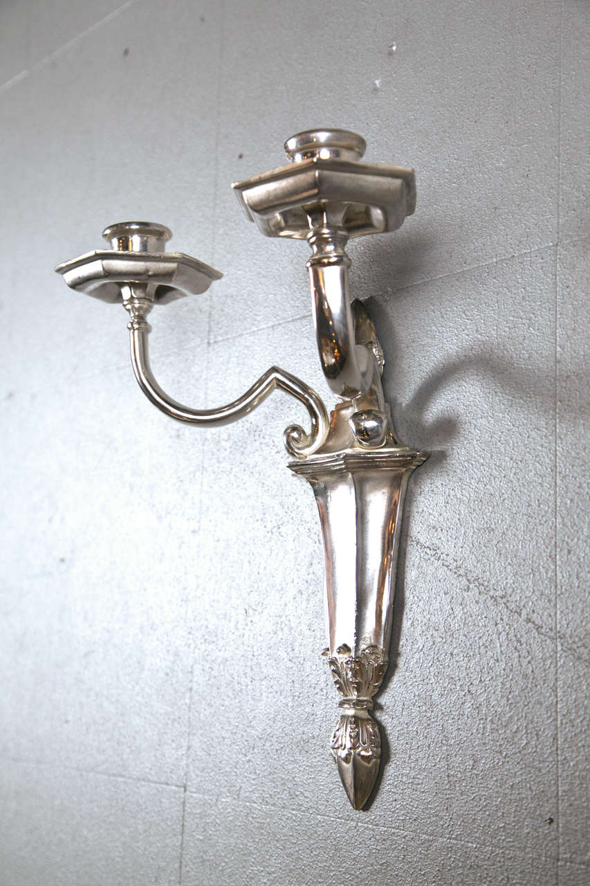 20th Century 8 pair of Caldwell sconces For Sale