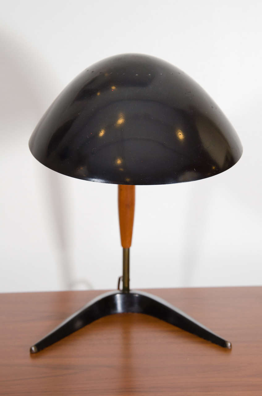 Gerald Thurston Desk Lamp With Boomerang Shaped Steel Base