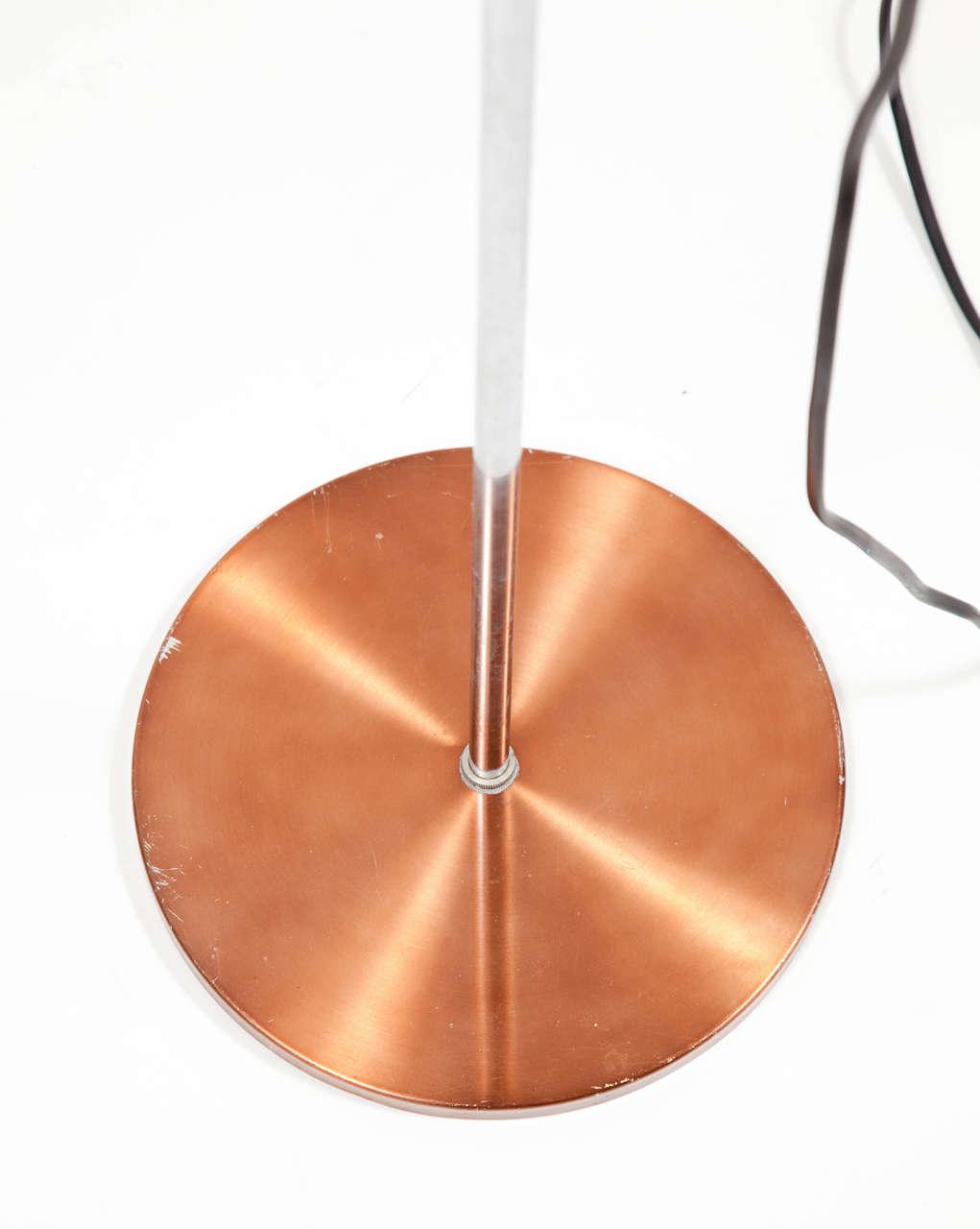 Danish Copper Floor Lamp 3