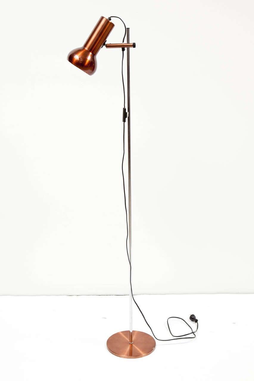 Danish Copper Floor Lamp 2